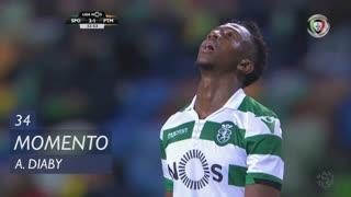 Sporting CP, Jogada, A. Diaby aos 34'