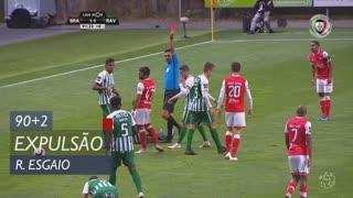 SC Braga, Expulsão, Ricardo Esgaio aos 90'+2'