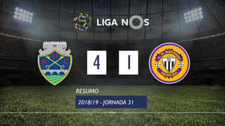 Liga NOS (31ªJ): Resumo GD Chaves 4-1 CD Nacional