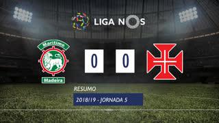 Liga NOS (5ªJ): Resumo Marítimo M. 0-0 Os Belenenses
