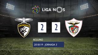 Liga NOS (3ªJ): Resumo Portimonense 2-2 Santa Clara