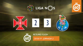 Liga NOS (2ªJ): Resumo Flash Belenenses SAD 2-3 FC Porto