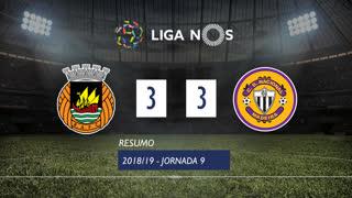 Liga NOS (9ªJ): Resumo Rio Ave FC 3-3 CD Nacional