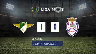 Liga NOS (6ªJ): Resumo Moreirense FC 1-0 CD Feirense