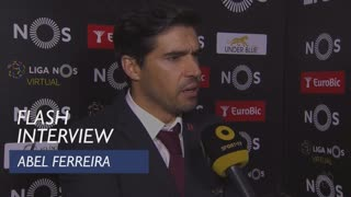 Liga (31ª): Flash Interview Abel Ferreira