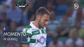 Sporting CP, Jogada, N. Gudelj aos 6'