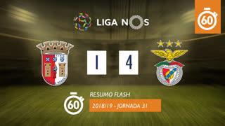Liga NOS (31ªJ): Resumo Flash SC Braga 1-4 SL Benfica