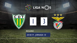 Liga NOS (10ªJ): Resumo CD Tondela 1-3 SL Benfica
