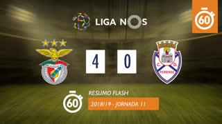Liga NOS (11ªJ): Resumo Flash SL Benfica 4-0 CD Feirense
