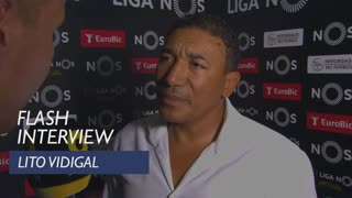 Liga (2ª): Flash interview Lito Vidigal