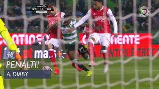Sporting CP, Penálti, A. Diaby aos 48'