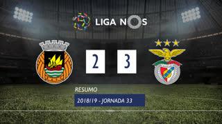 Liga NOS (33ªJ): Resumo Rio Ave FC 2-3 SL Benfica