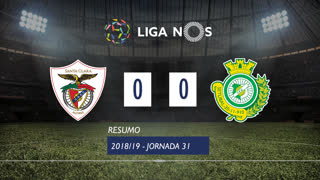 Liga NOS (31ªJ): Resumo Sta. Clara 0-0 Vitória FC