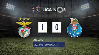 Liga NOS (7ªJ): Resumo SL Benfica 1-0 FC Porto