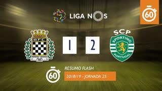 Liga NOS (25ªJ): Resumo Flash Boavista FC 1-2 Sporting CP