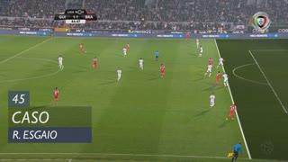 SC Braga, Caso, Ricardo Esgaio aos 45'