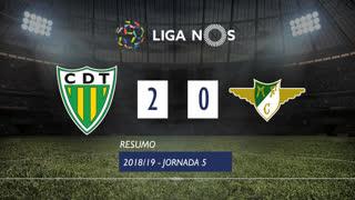 Liga NOS (5ªJ): Resumo CD Tondela 2-0 Moreirense FC