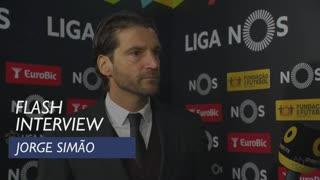 Liga (11ª): Flash interview Jorge Simão