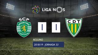 Liga NOS (33ªJ): Resumo Sporting CP 1-1 CD Tondela
