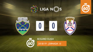 Liga NOS (15ªJ): Resumo Flash GD Chaves 0-0 CD Feirense