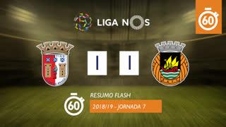 I Liga (7ªJ): Resumo Flash SC Braga 1-1 Rio Ave FC