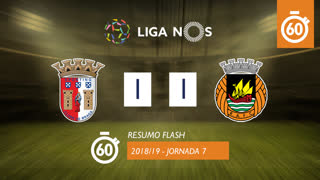 Liga NOS (7ªJ): Resumo Flash SC Braga 1-1 Rio Ave FC
