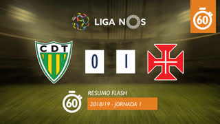 Liga NOS (1ªJ): Resumo Flash CD Tondela 0-1 Os Belenenses