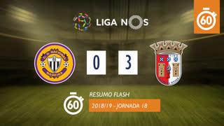 Liga NOS (18ªJ): Resumo Flash CD Nacional 0-3 SC Braga