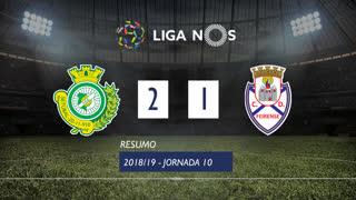 Liga NOS (10ªJ): Resumo Vitória FC 2-1 CD Feirense