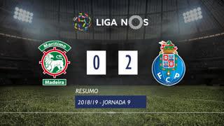 Liga NOS (9ªJ): Resumo Marítimo M. 0-2 FC Porto
