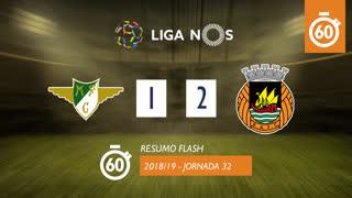 Liga NOS (32ªJ): Resumo Flash Moreirense FC 1-2 Rio Ave FC