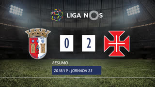 Liga NOS (23ªJ): Resumo SC Braga 0-2 Os Belenenses