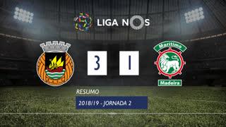 Liga NOS (2ªJ): Resumo Rio Ave FC 3-1 Marítimo M.