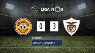 Liga NOS (6ªJ): Resumo CD Nacional 0-3 Santa Clara