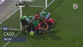 Sporting CP, Caso, Salin aos 44'