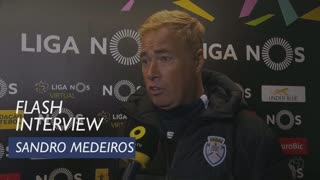 Liga (21ª): Flash Interview Sandro Medeiros