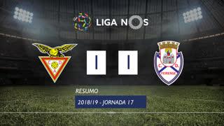 Liga NOS (17ªJ): Resumo CD Aves 1-1 CD Feirense