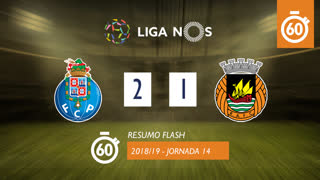 Liga NOS (14ªJ): Resumo Flash FC Porto 2-1 Rio Ave FC