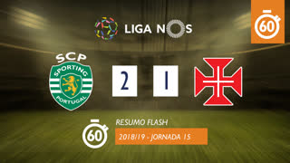 Liga NOS (15ªJ): Resumo Flash Sporting CP 2-1 Belenenses