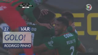 GOLO! Marítimo M., Rodrigo Pinho aos 27', CD Tondela 0-1 Marítimo M.