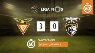 Liga NOS (6ªJ): Resumo Flash CD Aves 3-0 Portimonense