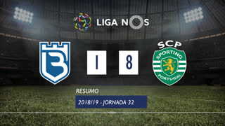 Liga NOS (32ªJ): Resumo Belenenses 1-8 Sporting CP
