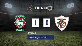 Liga NOS (1ªJ): Resumo Marítimo M. 1-0 Sta. Clara
