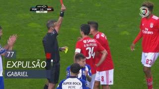 SL Benfica, Expulsão, Gabriel aos 77'