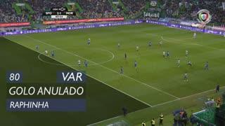 Sporting CP, Golo Anulado, Raphinha aos 80'