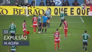 Sporting CP, Expulsão, M. Acuña aos 55'