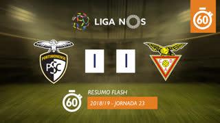 Liga NOS (23ªJ): Resumo Flash Portimonense 1-1 CD Aves