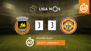 Liga NOS (9ªJ): Resumo Flash Rio Ave FC 3-3 CD Nacional
