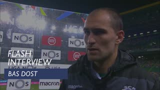 Liga (10ª): Flash interview Bas Dost