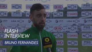 Liga (32ª): Flash Interview Bruno Fernandes